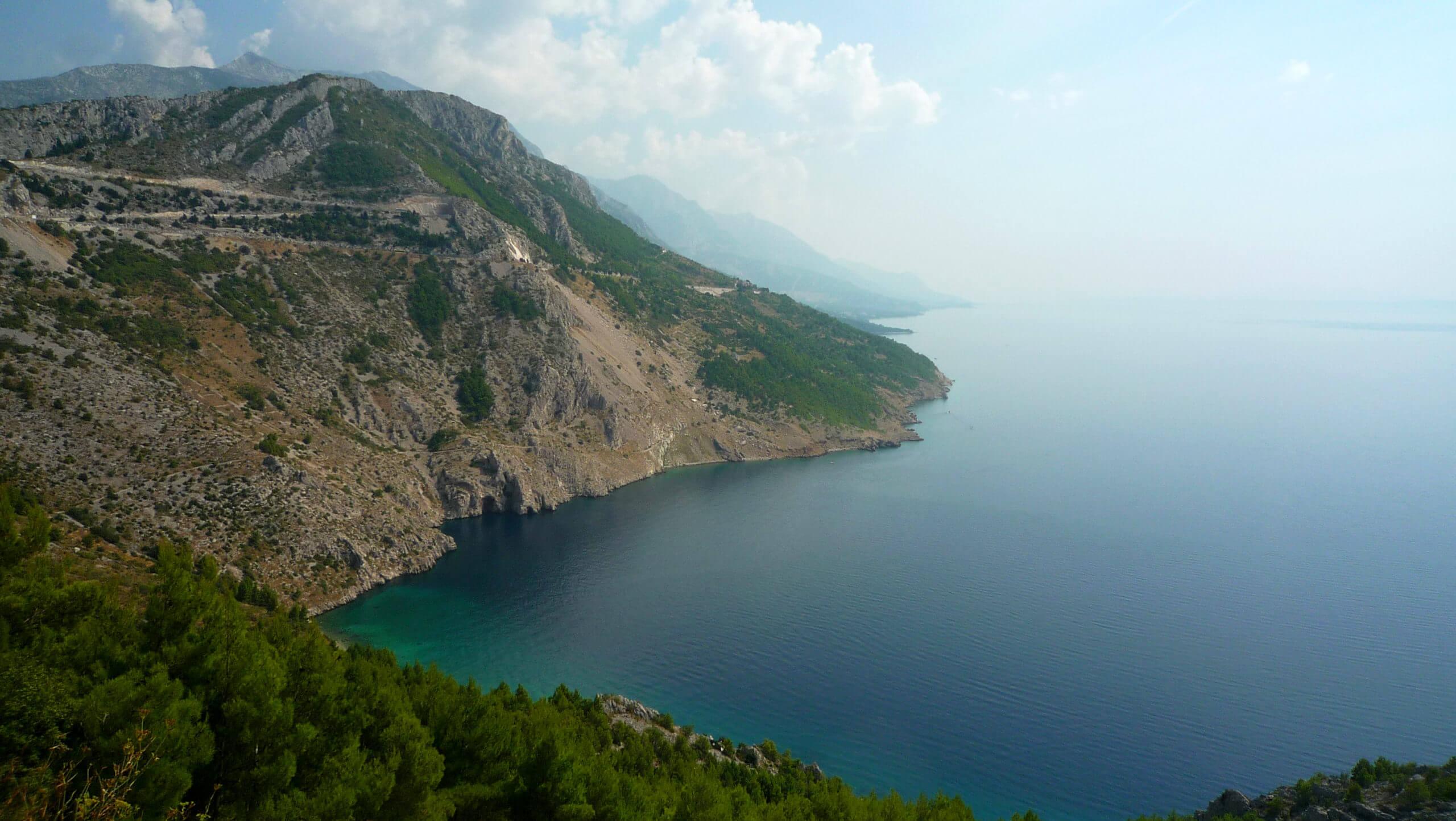 Costa Makarska. Croacia.