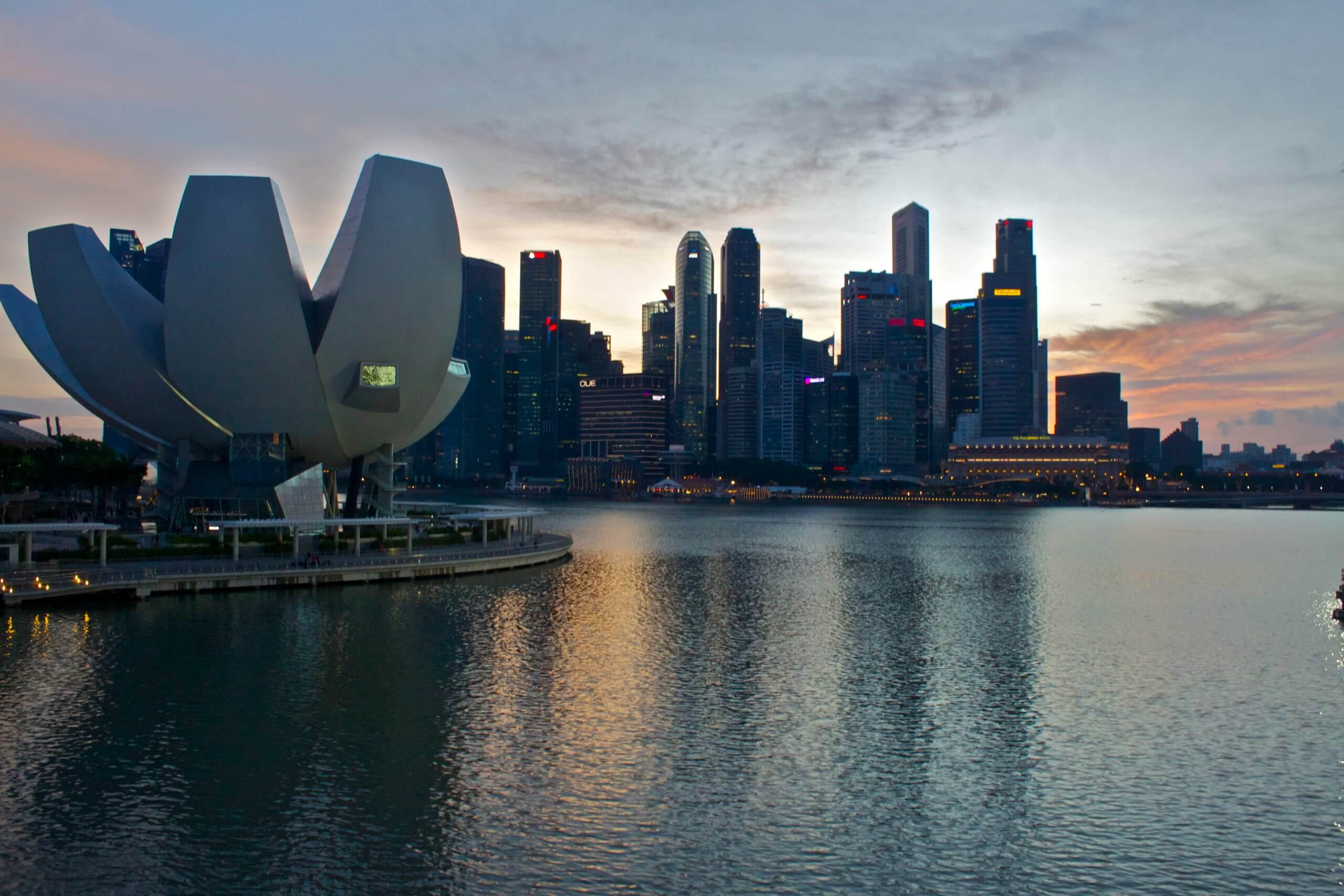 Singapur. Marina Bay