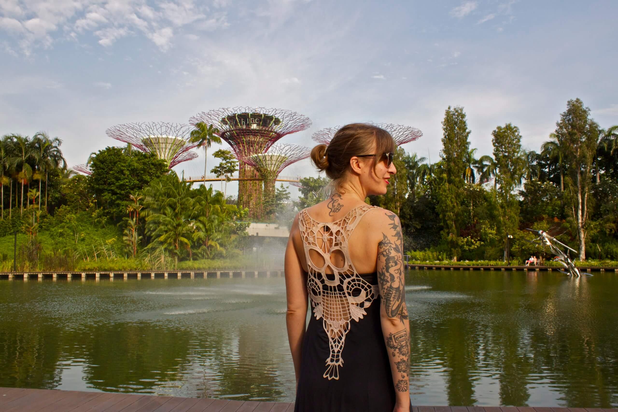 Marina Bay Gardens. Singapur.