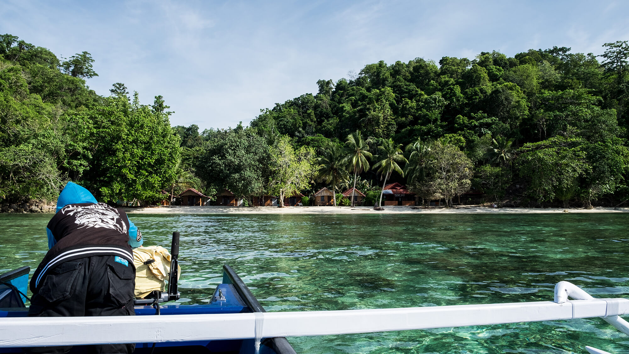Llegada a la isla de Malenge en las islas Togean