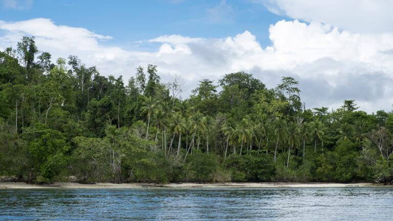 Las 'no' playas de Raja Ampat en Papúa, Indonesia