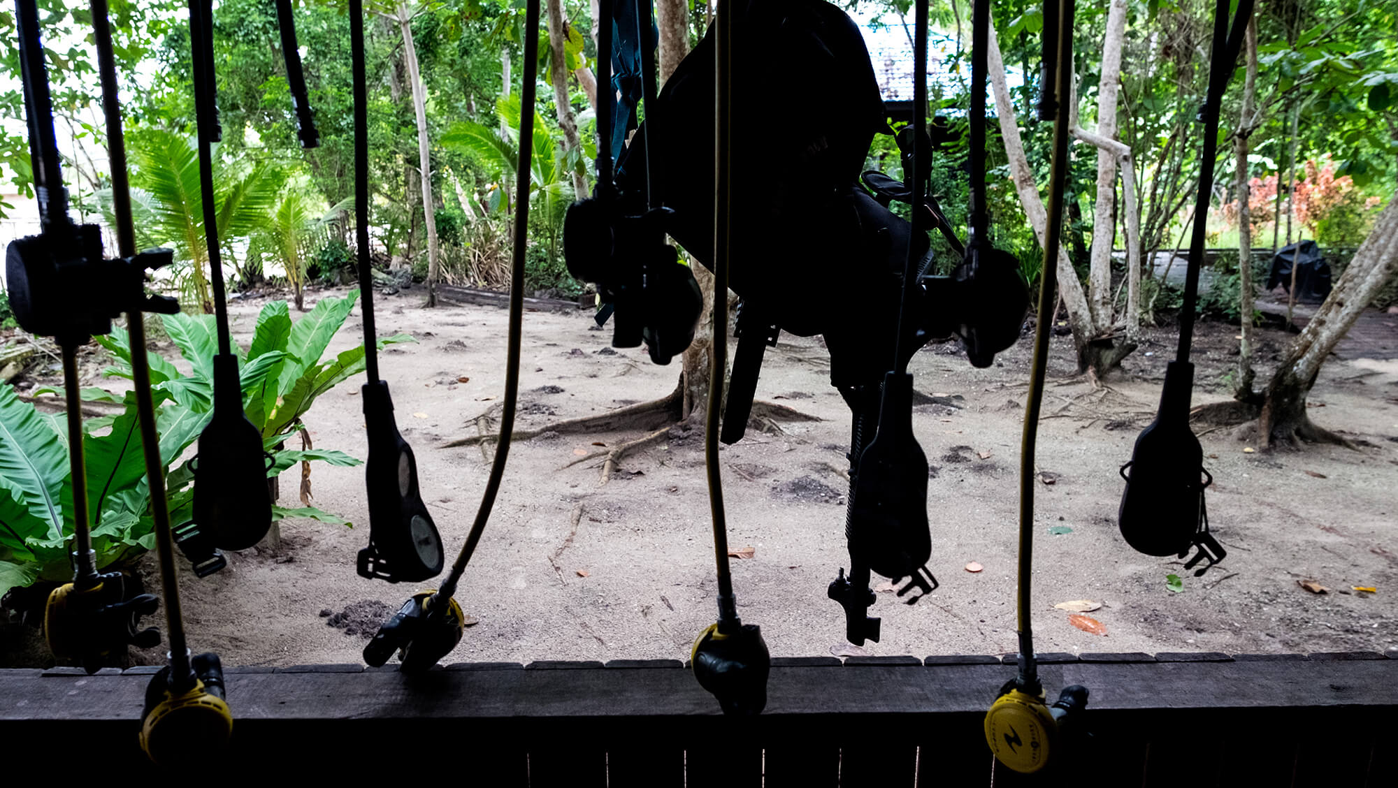 Respiradores de buceo en Raja Ampat en Papúa