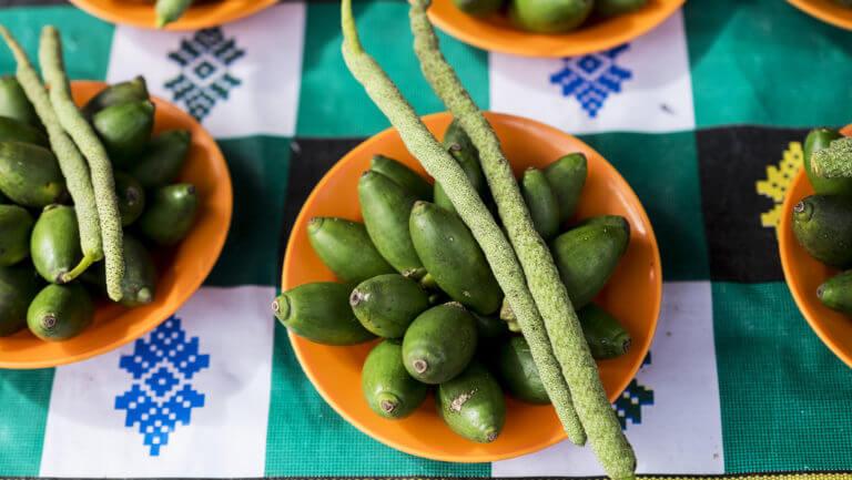 Frutas y verduras endémicas de Papúa en Indonesia