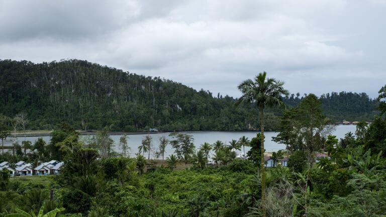Aldeas en medio de la selva de Raja Ampat en Papúa