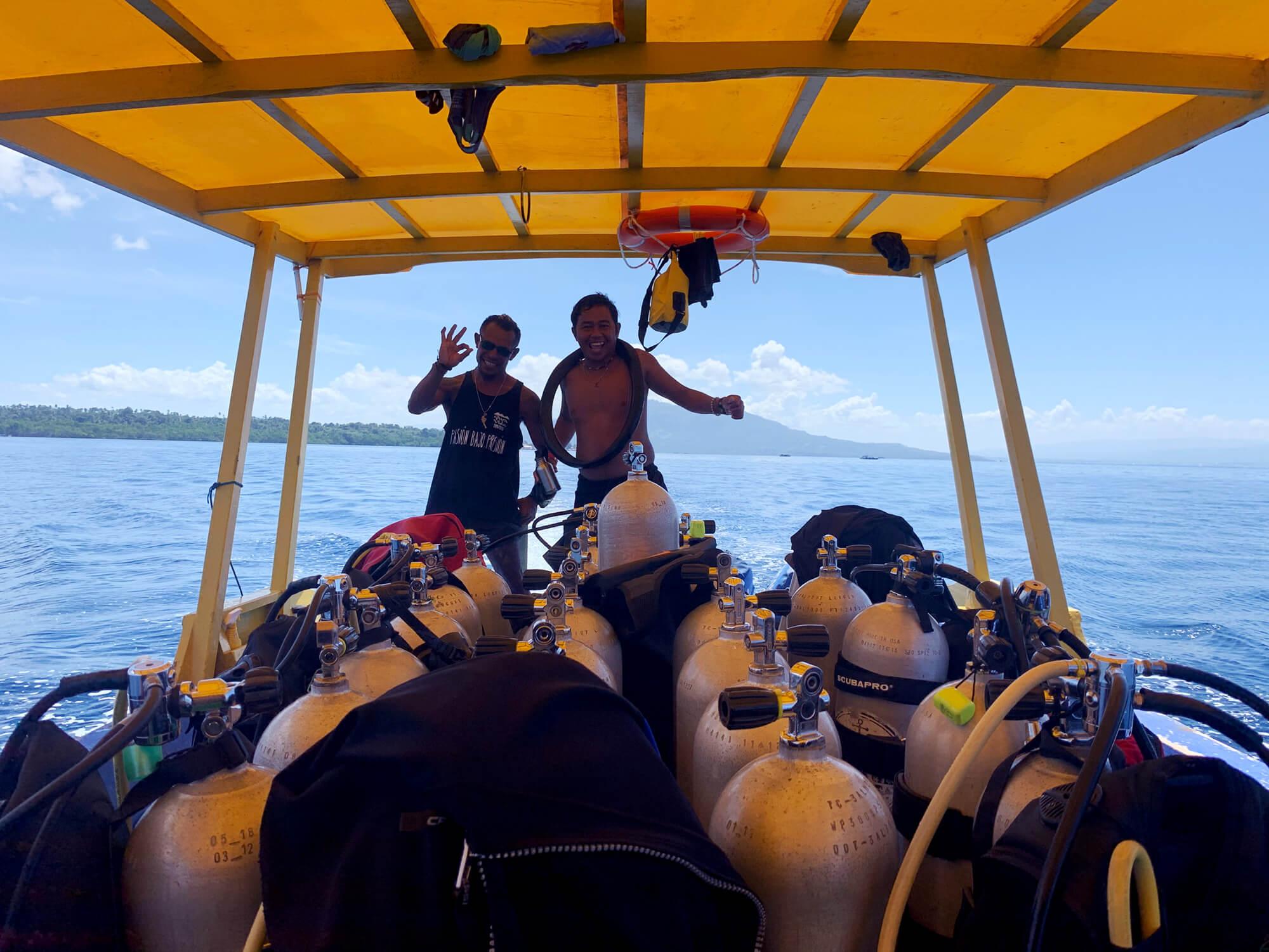 Día divertido de buceo en el Parque Marino de Bunaken, en Sulawesi