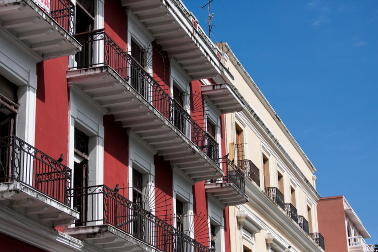 Edificios coloniales en la ciudad mexicana de Veracruz