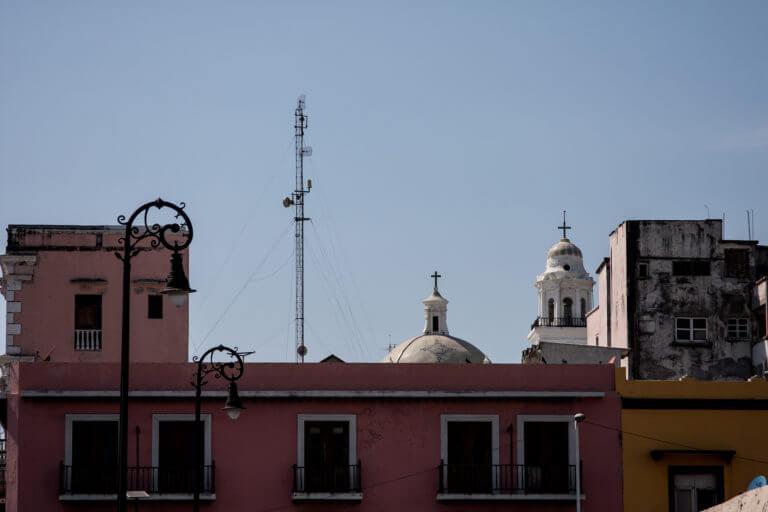 Tejados coloniales en la ciudad mexicana de Veracruz