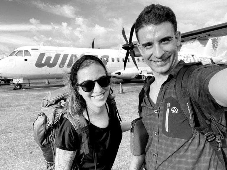 Aeropuerto de Sulawesi en la Aventura de TrotandoMundos por el Pacífico