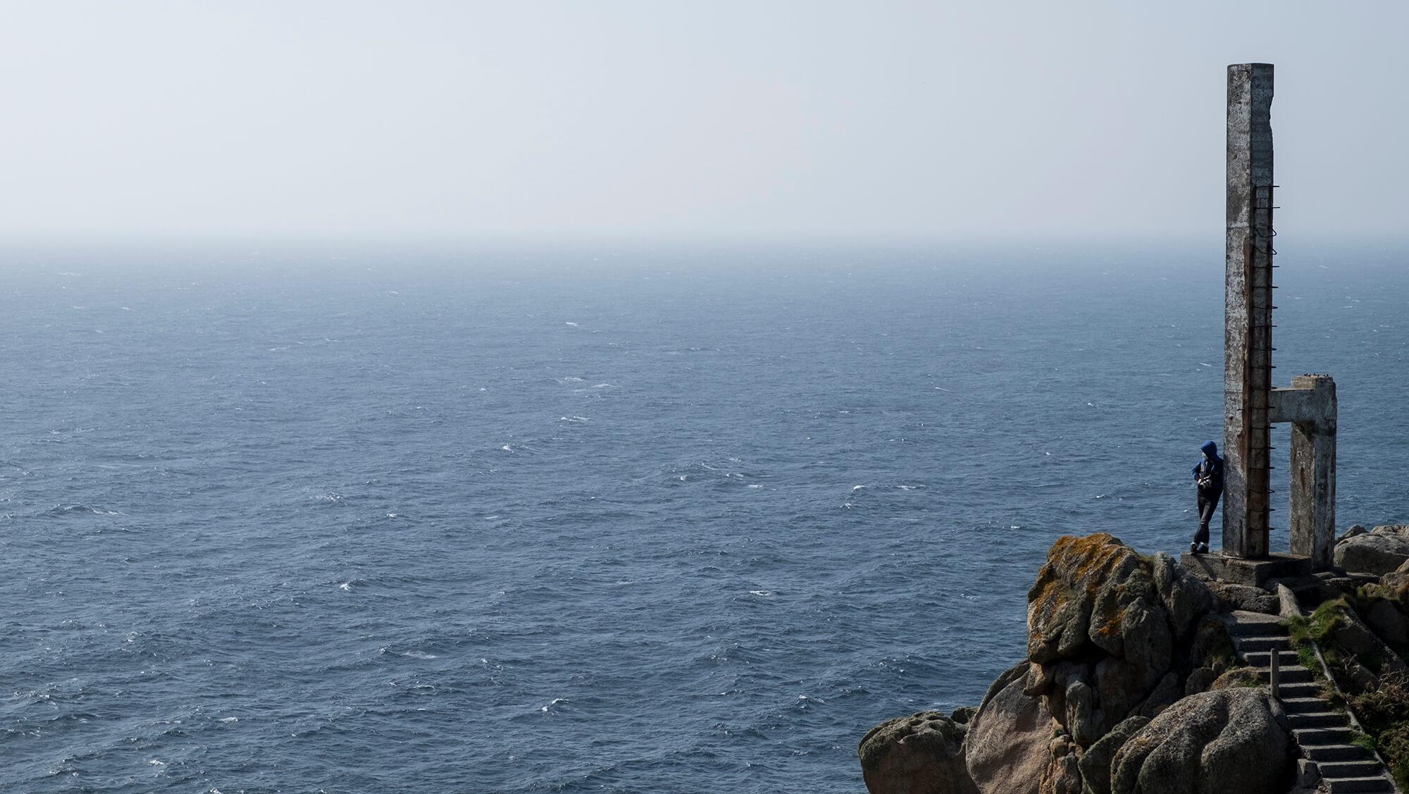 Cabo Prior entre acantilados en Ferrol - Galicia
